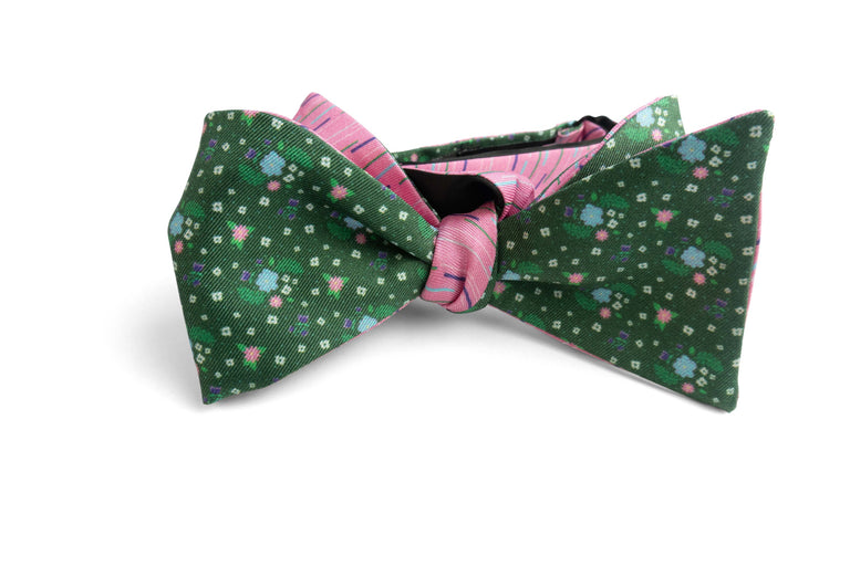 Miami Flores Reversible Bow Tie