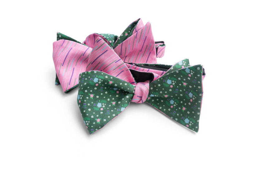 Miami Flores Bow Tie Set