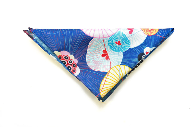 Ocean Boulevard Silk Pocket Square
