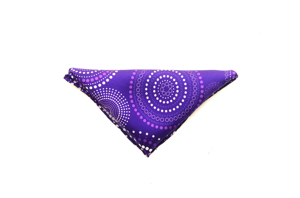 Purple silk pocket square from Ocean Boulevard