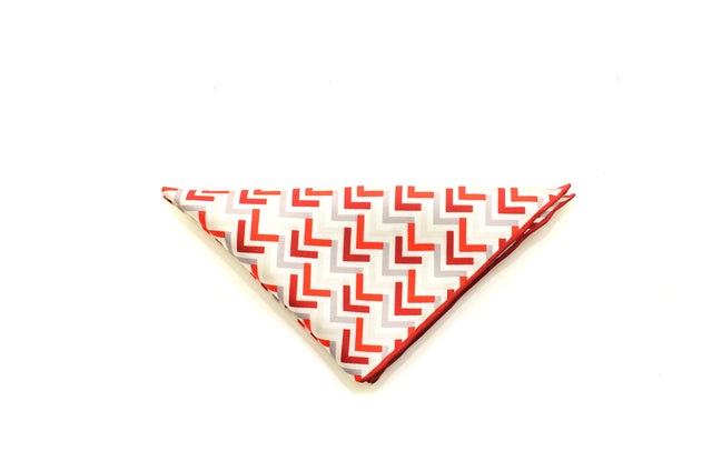 Red Silk pocket square from Ocean Boulevard