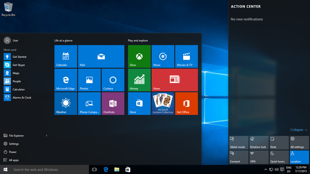 Windows 10 Demo Tutorial (Technical Preview)