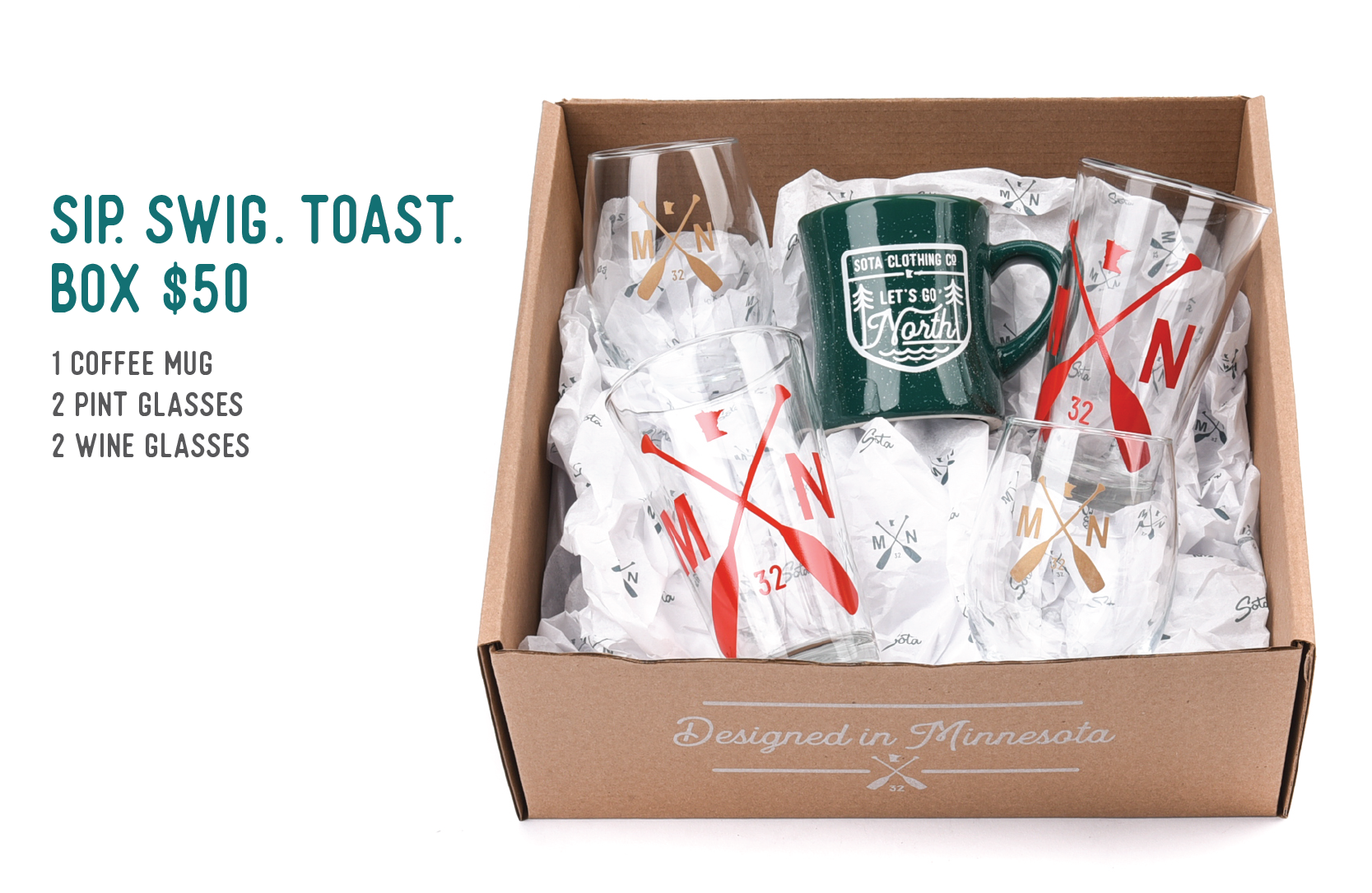 Sip. Swig. Toast. Box $50