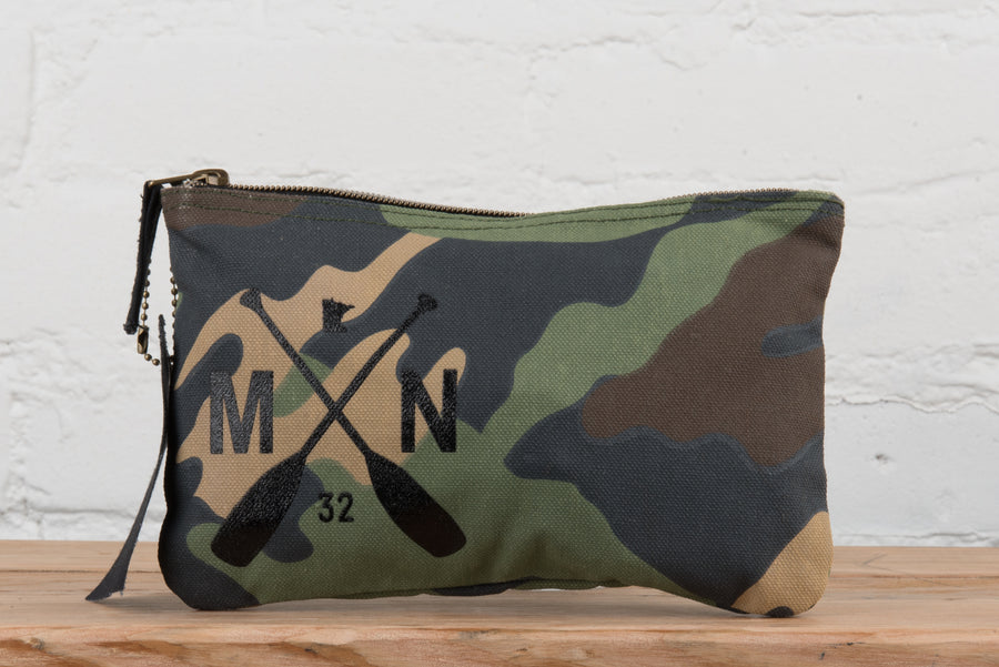Timber Camo Zip Pouch