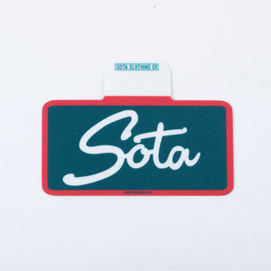Sota Script Rectangle Sticker