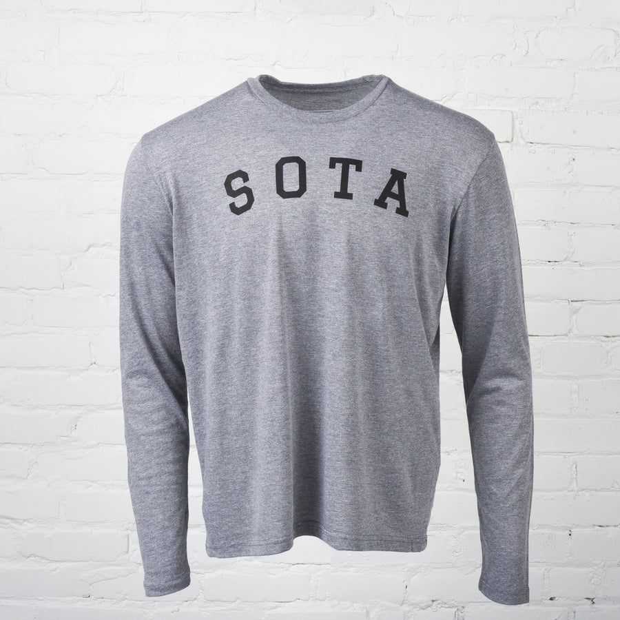 Logan Unisex Long Sleeve Heather Grey