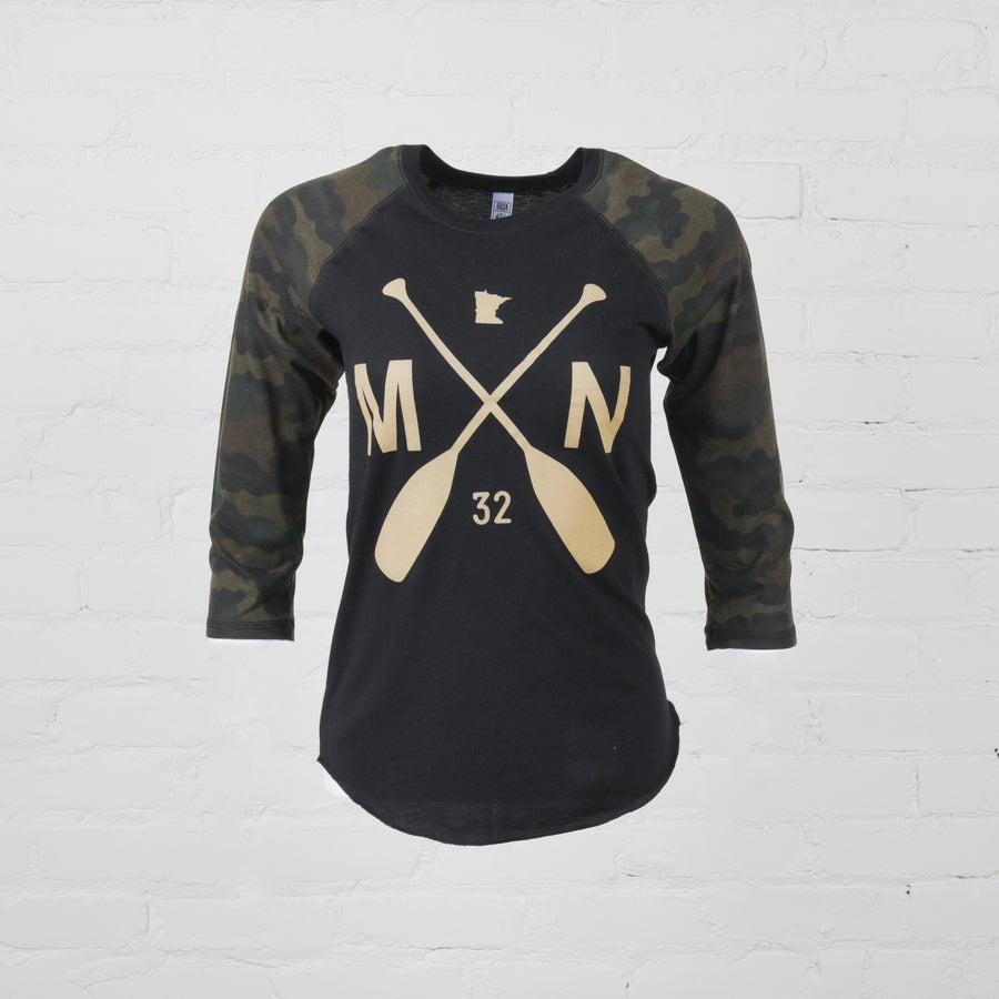 Crookston Camo Raglan