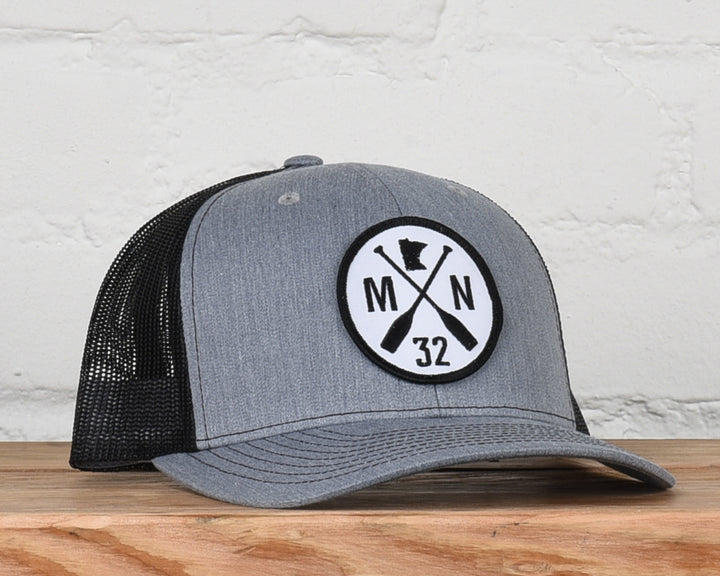 The Classic Gray/Black Mesh Snapback