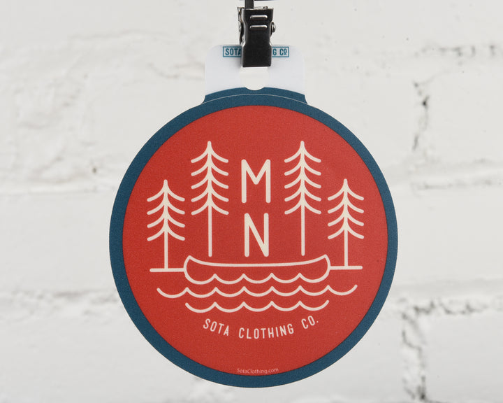 MN Trees Circle Sticker