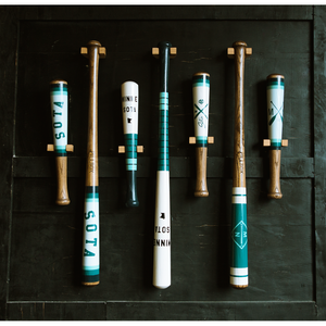 Crossed Paddles Baby Baseball Bat - Pillbox Collab