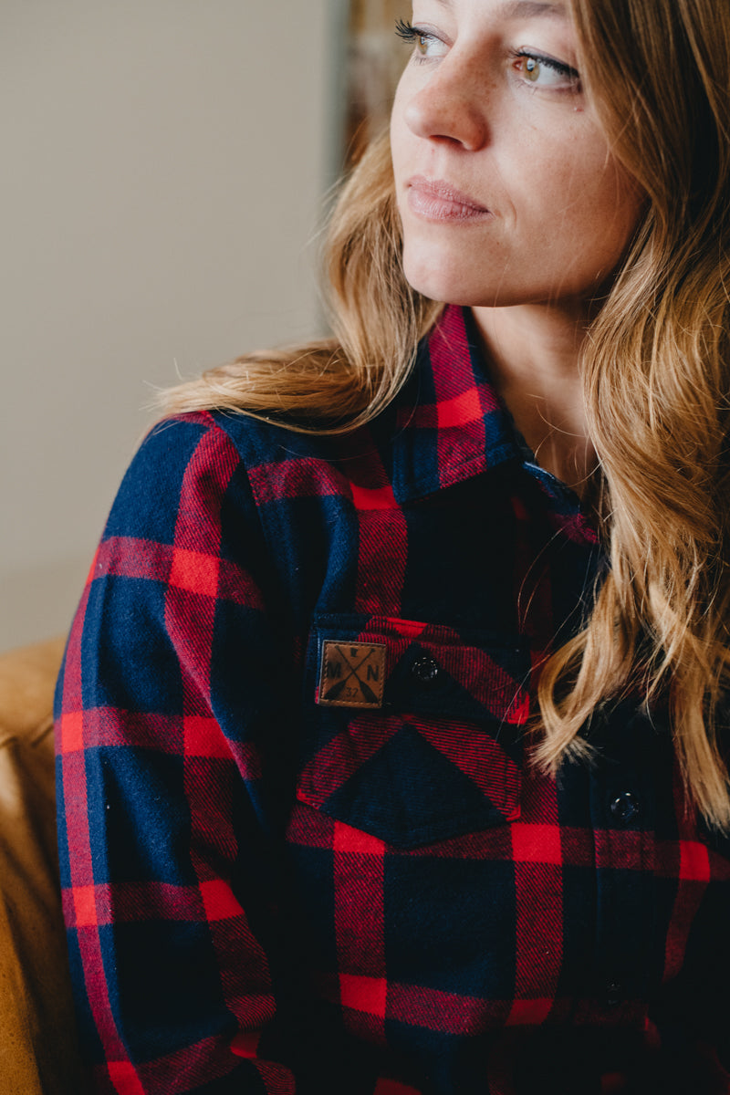 Women's Navy Flannel