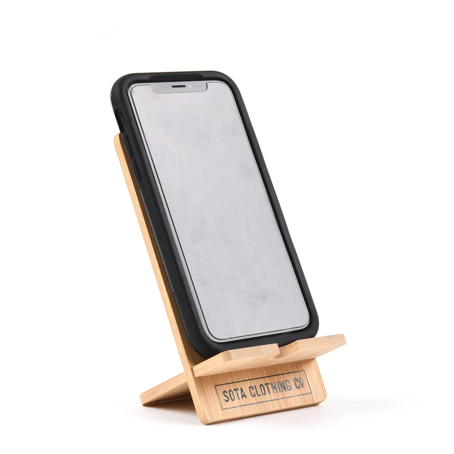 Bamboo Cell Phone Stand