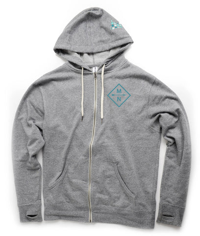 MN Diamond Zip Up Hoodie