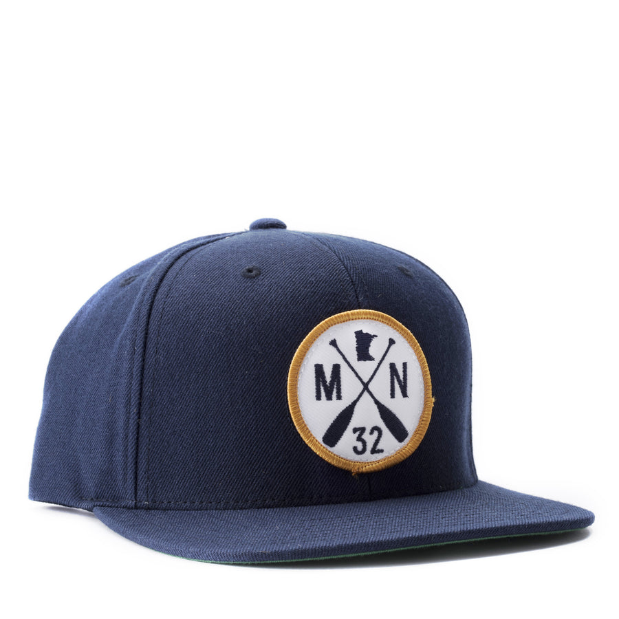 Scout Snapback Hat - Navy/Gold