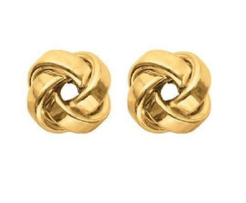 14k Solid Gold Love Knot Earrings Loveknot Earring