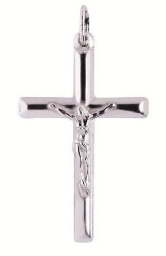 Sterling Silver Crucifix Cross Charm Religious Pendant