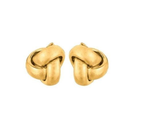14k Solid Yellow Gold Love Knot Earrings Loveknot Earring New