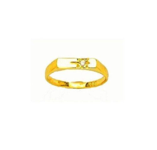 14k Real Gold Baby CZ Ring Children's Baby Kids New