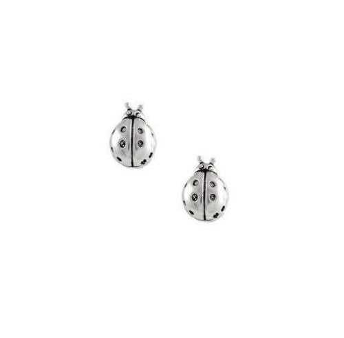 .925 Sterling Silver Ladybug Post Stud Earrings Lady Bug 5mm Small