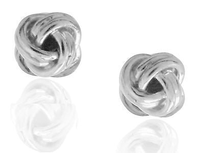 Sterling Silver Baby Love Knot LoveKnot Stud Earrings 5mm