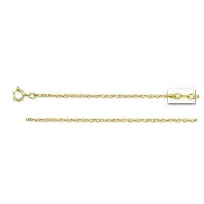 14K Solid Yellow Gold Pendant Sturdy Rope Chain 0.9m 20""