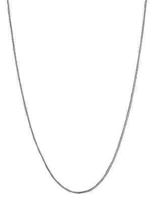 14K Solid White Gold Franco Chain Necklace 0.9mm