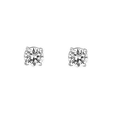 14k White Gold Baby Cz Earrings Screw Back Children Studs 2mm