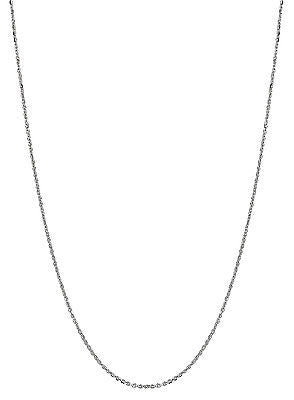 "14K Solid White Gold Baby Children's Cable Link Chain Necklace 14"" 1.1mm"