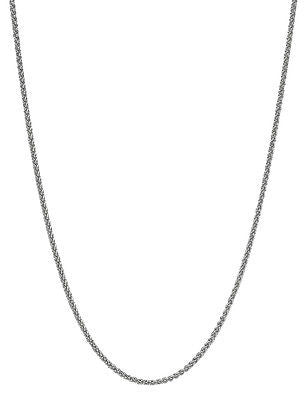 "14K White Gold Round Wheat Chain Necklace 1.5mm 16"", 18"", 20"", 22"", 24"", 30"""