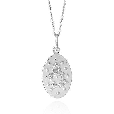 ".925 Sterling Silver Miraculous Medal Oval Virgin Mary Charm Pendant 18"" Small"