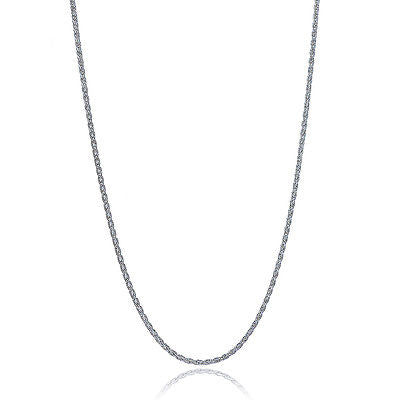 "Sterling Silver Spiga Chain 1.5mm Necklace 16"" 18"" 20"" 24"""