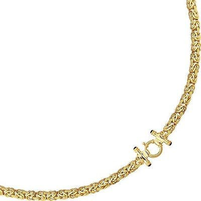 14K Yellow Gold Byzantine Bracelet With Toggle Lock 8mm 7.25""