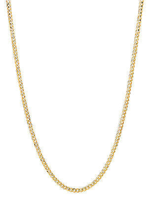 "14K Solid Yellow Gold Curb Chain Necklace 2.6mm 16"", 18"", 20"", 24"""