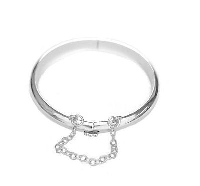Sterling Silver Shiny Baby Bangle Bracelet Children's kids 5.5""