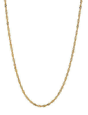 "14K Solid Gold Singapore Rope Chain Necklace 1.7mm 16"",18"",20"""