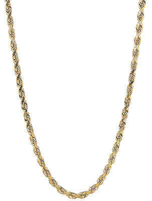"10k Yellow Gold Lite Rope Chain Necklace 20"" 2.25mm"