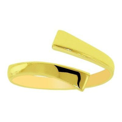 14k Solid Gold Cross Over Toe Ring Body Art Adjustable