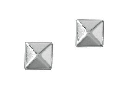 Sterling Silver Geometric Pyramid Stud Earrings 7.5mm