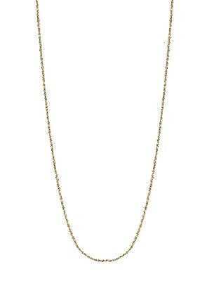 "10K Solid Yellow Gold Pendant Rope Chain 0.9mm Necklace Sturdy 16"",18"", 20"", 24"""