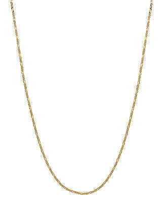 "14K Solid Yellow Gold Figaro Chain Necklace 1.3mm 16"", 18"", 20"", 24"""