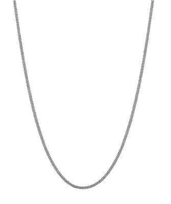 "10K Solid White Gold Gourmette Chain Necklace 16"",18"", 20"", 24"" 1.5mm"