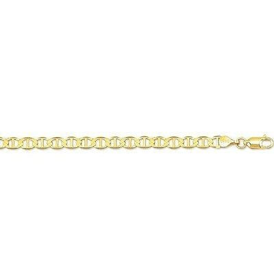 "10k Real Yellow Gold 5.5mm Mariner Link Chain Men's Bracelet 8"" inch"