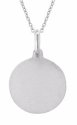 Sterling Silver Saint St. Joseph Medal Charm Necklace 18""