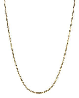 "14K Solid Gold Franco Chain Necklace 1.2mm 16"", 18"", 20"""
