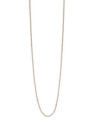 "14K Solid Gold Cable Chain Necklace 18"" 0.9mm"