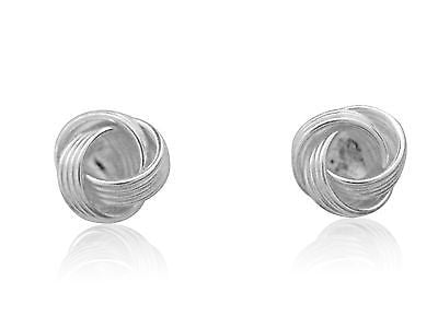 Sterling Silver Love Knot Earrings Loveknot Earrings 6.5mm Small