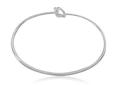 Sterling Silver Mariner Knot Designer Inspired Nautical Bangle 7""