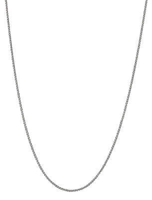 "14K White Gold Round Wheat Chain Necklace 1.2mm 16"", 18"", 20"", 24"""