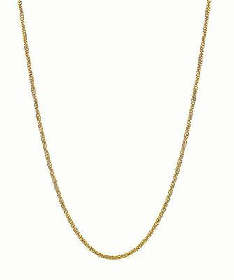 "14K Solid Yellow Gold Gourmette Chain Necklace 1.5mm 16"",18"", 20"",24"""