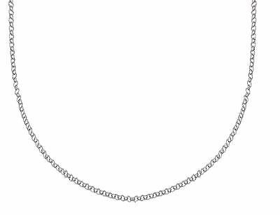 "14K White Gold Rolo Chain Necklace 2.3mm 16"",18"", 20"", 22"", 24"", 30"""